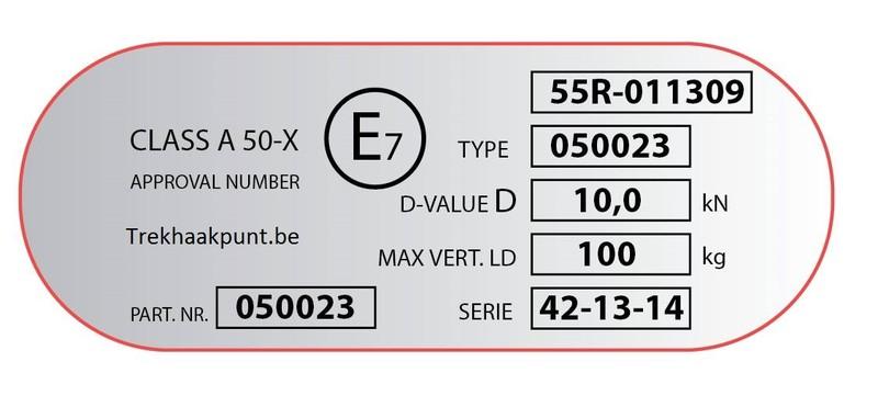 label d'identification spécifique